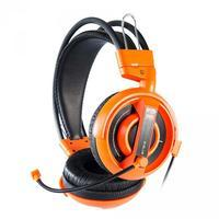 E-Blue, Cobra I, herní sluchátka s mikrofonem,oranžová