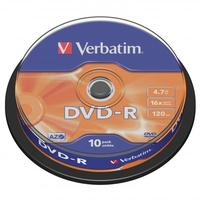 Verbatim DVD-R, DataLife PLUS, 10-pack, spindle