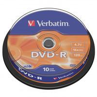 Verbatim DVD-R, DataLife PLUS, 10-pack, spindle
