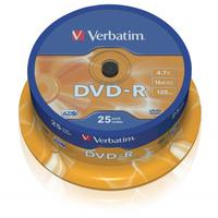 Verbatim DVD-R, DataLife PLUS, 25-pack, spindle