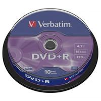 Verbatim DVD+R,DataLife PLUS, 10-pack, spindle