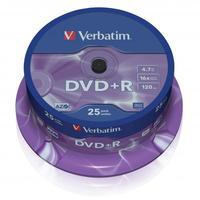 Verbatim DVD+R, DataLife PLUS, 25-pack, spindle