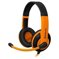 Herní sluchátka s mikrofonem Defender Warhead G-120, černo-oranžová - 1