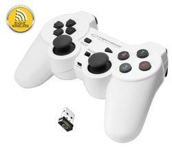 Bezdrátový gamepad Esperanza GLADIATOR bílý (PC/PS3) - 1