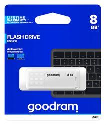 Goodram USB flash disk UME2 8GB USB 2.0 bílá - 1