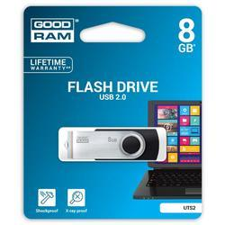 Goodram USB flash disk, 2.0, 8GB, UTS2, černý