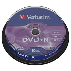 Verbatim DVD+R,DataLife PLUS, 10-pack, spindle