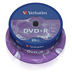 Verbatim DVD+R, DataLife PLUS, 25-pack, spindle