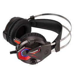 Marvo sluchátka s mikrofonem HG8914, černo-červená - 2