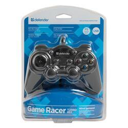 Gamepad Defender Game Racer Turbo RS3, černý - 2