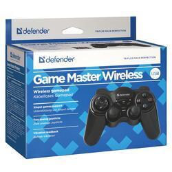 Gamepad Defender AAA, GAME MASTER WIRELESS, bezdrátový, černý - 2