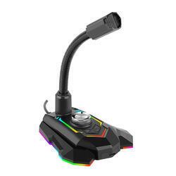 Marvo, herní mikrofon MIC-05, černý, Rainbow podsvícený - 2