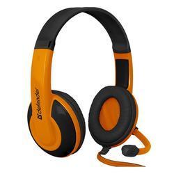 Herní sluchátka s mikrofonem Defender Warhead G-120, černo-oranžová - 3