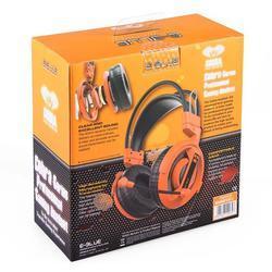 E-Blue, Cobra I, herní sluchátka s mikrofonem,oranžová - 3