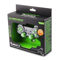 Bezdrátový gamepad Esperanza GLADIATOR zelený (PC/PS3) - 3