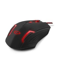 Herní optická myš FIGHTER MX205, černo-červená - 3