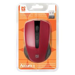 Defender Optická Bezdrátová Myš Accura MM-935, červená - 4