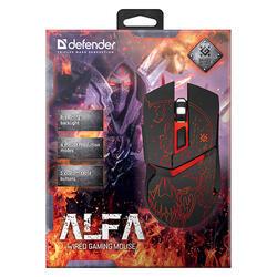 Defender Herní Myš Alfa GM-703L, černá, podsvícená - 4
