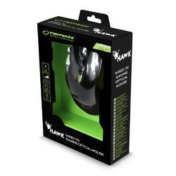 Herní optická myš HAWK MX401  , černo-zelená - 4