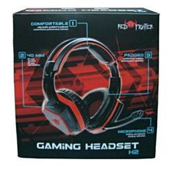 Herní sluchátka s mikrofonem RED FIGHTER H2 , černo-červená - 6