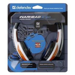 Herní sluchátka s mikrofonem Defender Warhead G-120, bílo-červená - 6