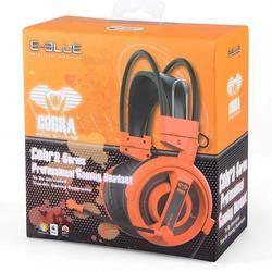 E-Blue, Cobra I, herní sluchátka s mikrofonem,oranžová - 6