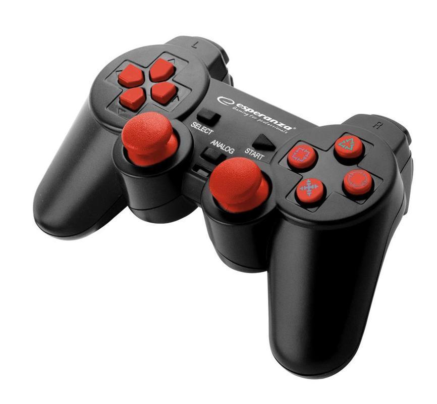 Gamepad Corsair Esperanza EGG106R, červený (PC/PS2/PS3)