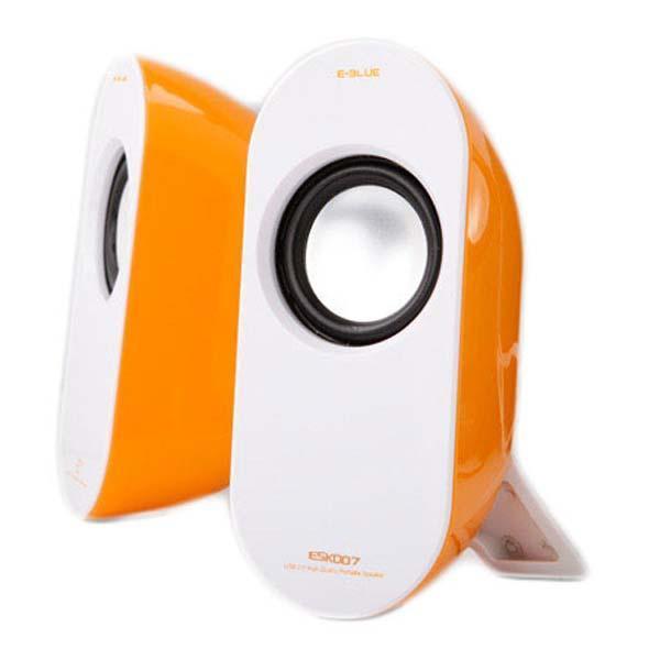 Reproduktory E-Blue Pioneer-y, 2.0, oranžové