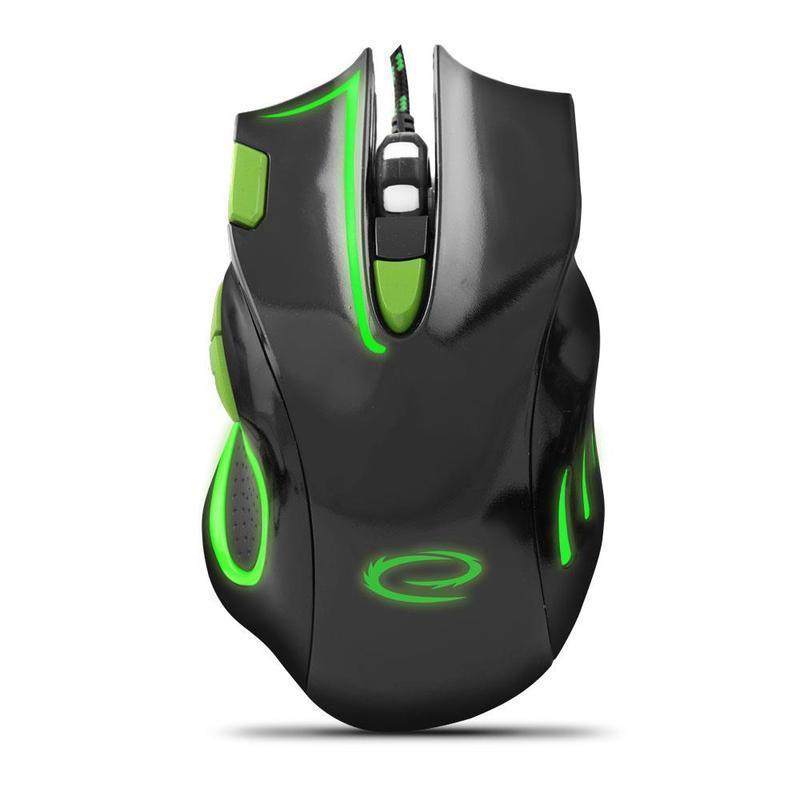 Herní optická myš HAWK MX401 , černo-zelená