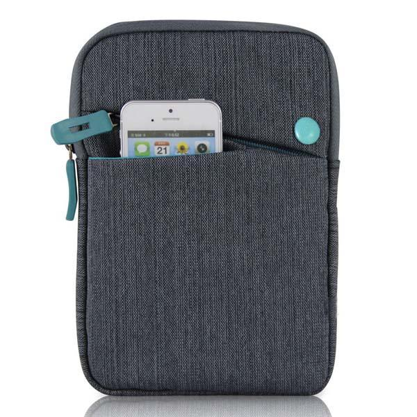 """Pouzdro pro tablet 7"""", CANVAS, šedo-modrý"""