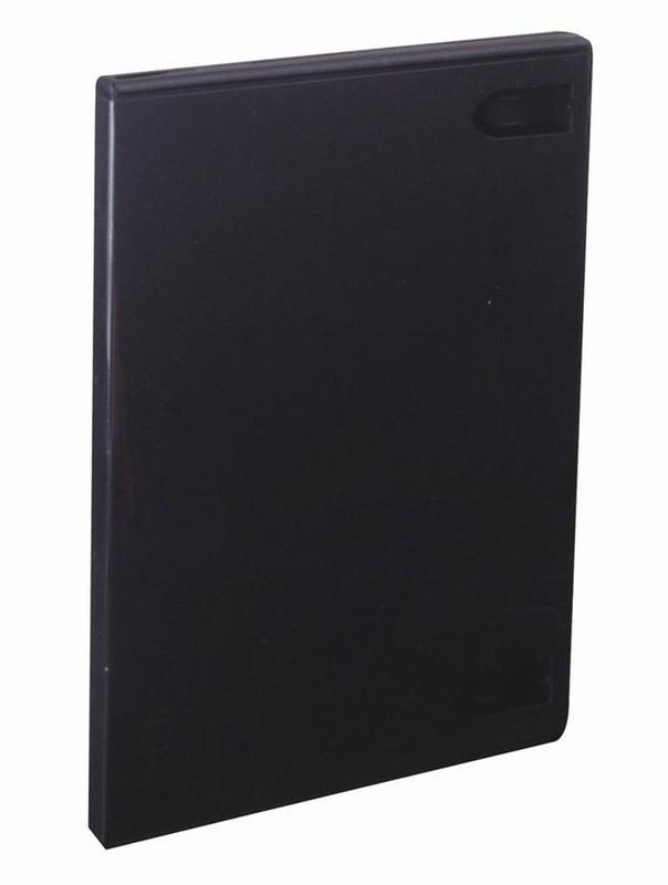 Plastová krabička na 1 DVD 14mm, černá
