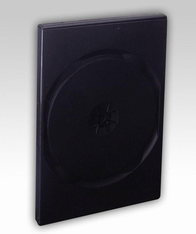 Plastová krabička na 2 DVD 14mm, černá